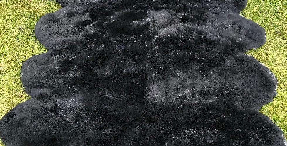 Australian Sheepskin Octo Black 6'x7' $319