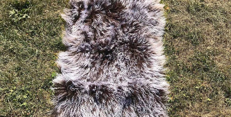 Chocolate Snowtop Tibetan Lamb Throw/Rug $99