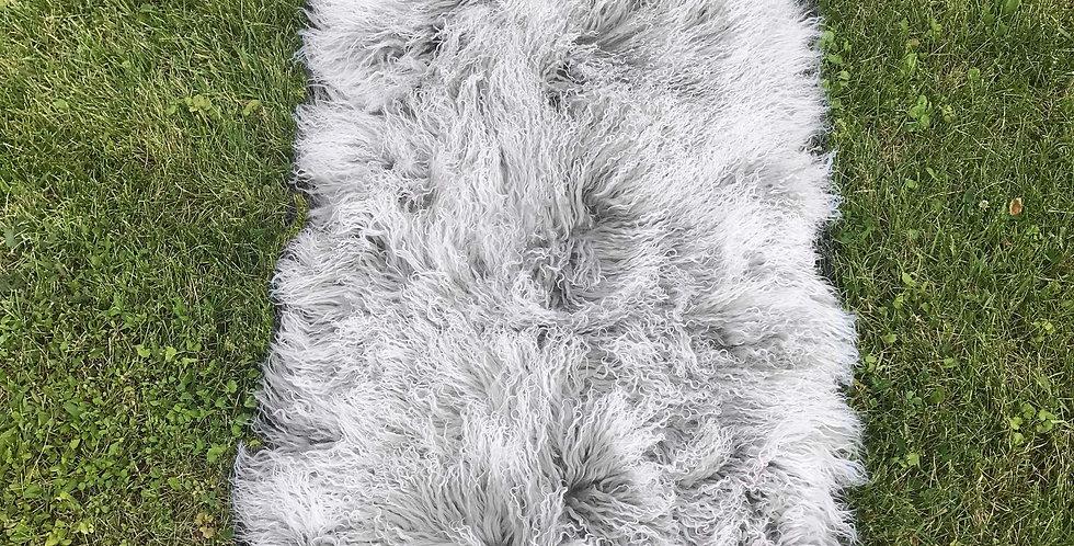 Gray Snowtop Tibetan Lamb Throw/Rug $99