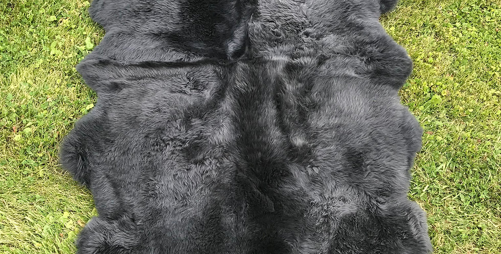 Australian Sheepskin Quad Charcoal 4'x6'