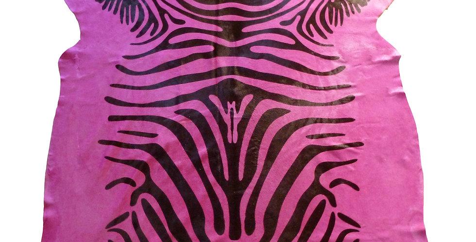 Pink Zebra Brazilian Cowhide