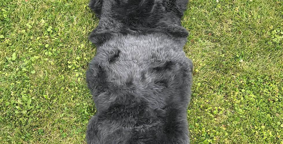 Australian Sheepskin Double Charcoal 2'x6'