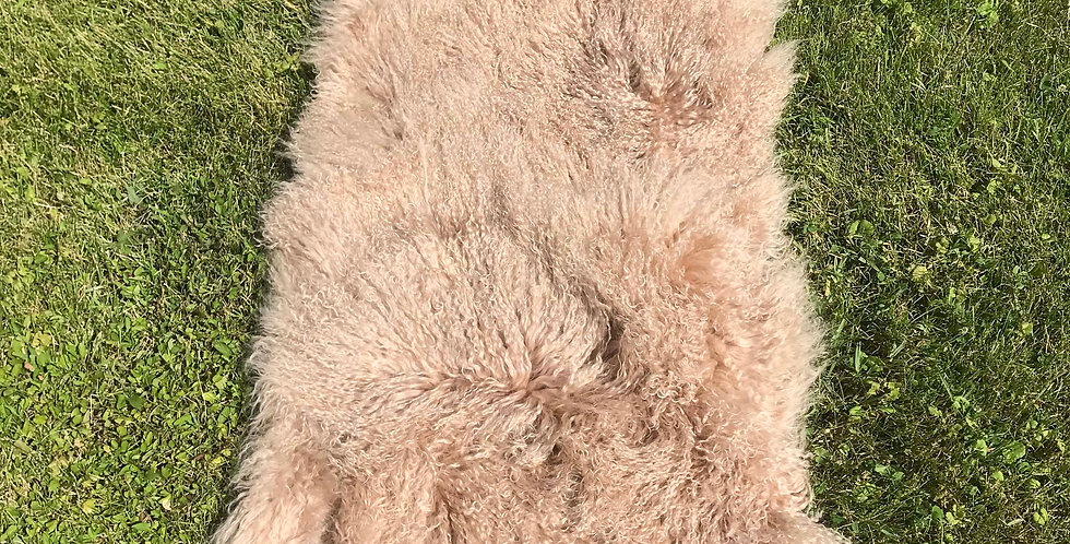 Spice Tibetan Lamb Throw/Rug