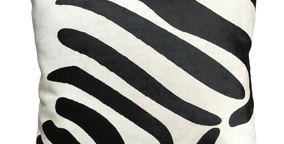 Zebra Cowhide Pillow $69