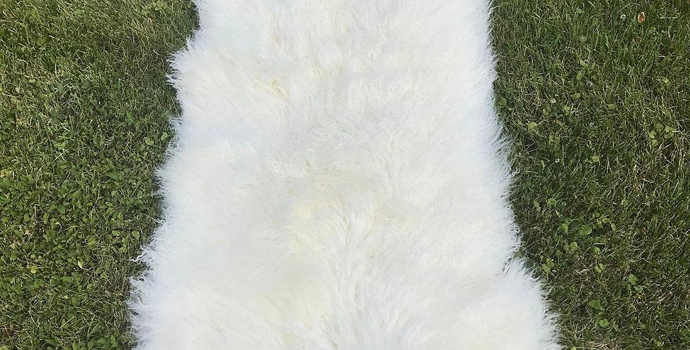 Country White Tibetan Lamb Throw/Rug