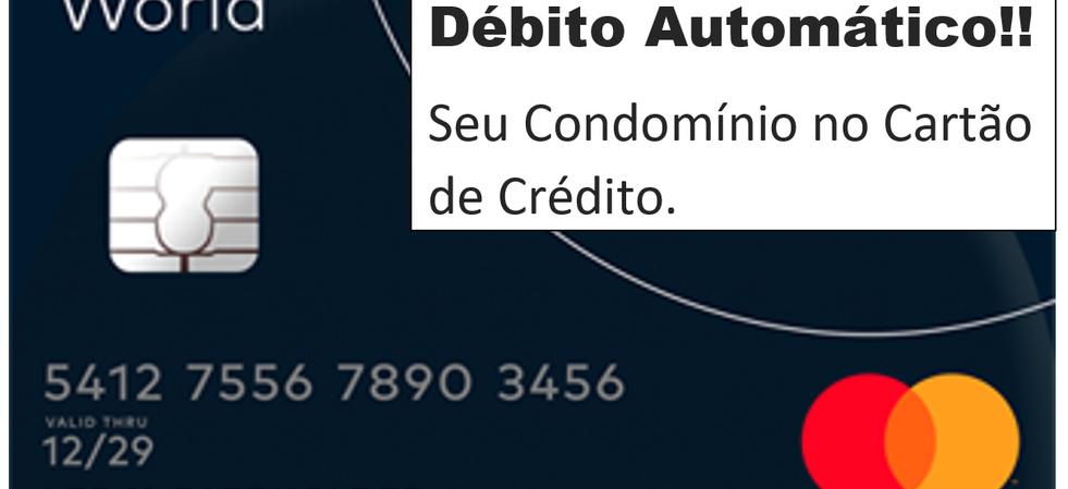 Taxa de condomínio no Cartão