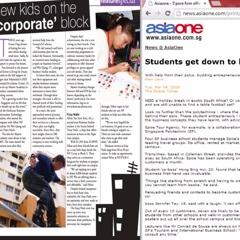 Feature in AsiaOne news article