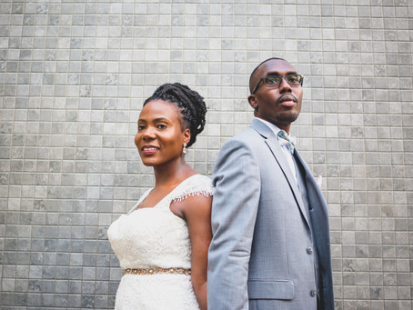 Jade + Gio | Washington DC | Private Civil Courtyard Wedding Ceremony