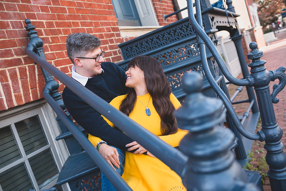 Old Town Alexandria Engagement CharliePWindsor