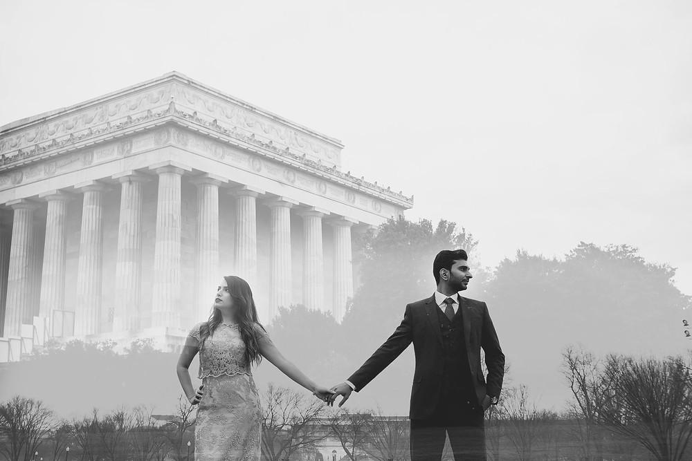 charliepwindsor Lincoln Memorial engagement Washington dc