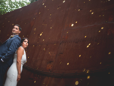 Samantha + Younes | Arlington VA | Courthouse Botanical Garden Wedding