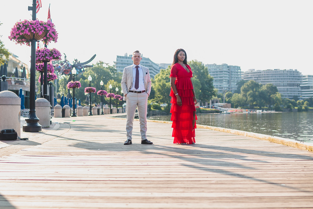 Georgetown Waterfront Engagement Photos