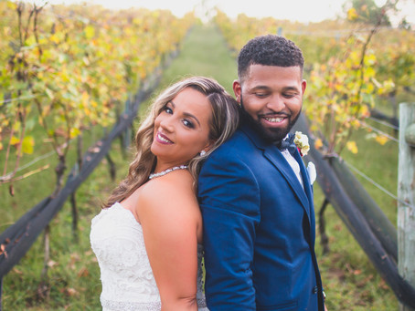 Briana + Darin | Stafford VA | Potomac Point Winery Wedding