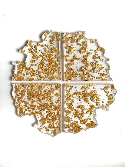 Gold Flake Coasters