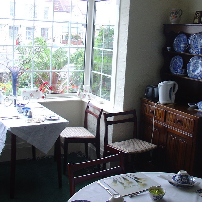 The actual B&B breakfast room in Cleethorpes where Karl Marx got a bit fresh with Lydia Japhethson. Image by Matthew James Hunt.