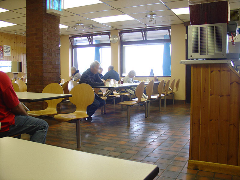 Brown's Cafe on Cleethorpes promenade, Peach's Cafe in the novel I Am Not Gog, where the Passover was allegorically represented. Image by Matthew James Hunt 2006.
