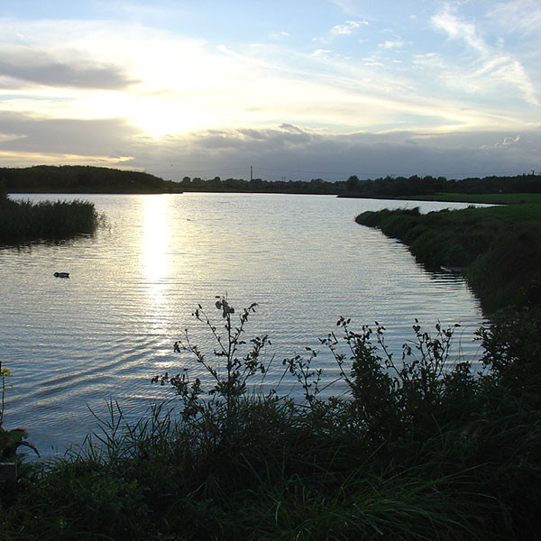 Cleethorpes Country Park lake, the scene in I Am Not Gog where this allegorical strand is centred. Photograph by Matthew James Hunt.