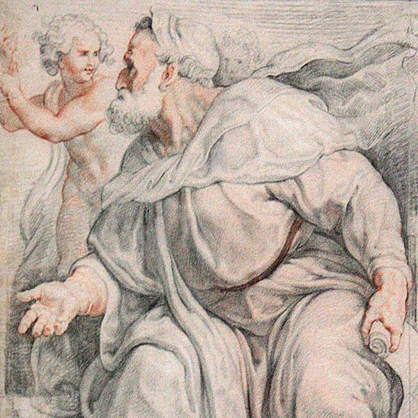 The Prophet Ezekiel by P.P. Rubens. Louvre. Image by Jean-Pol GRANDMONT (cropped).