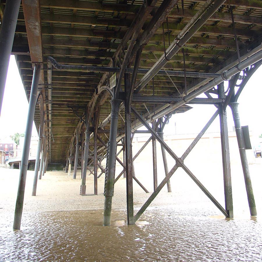 Beneath Cleethorpes' Pier.