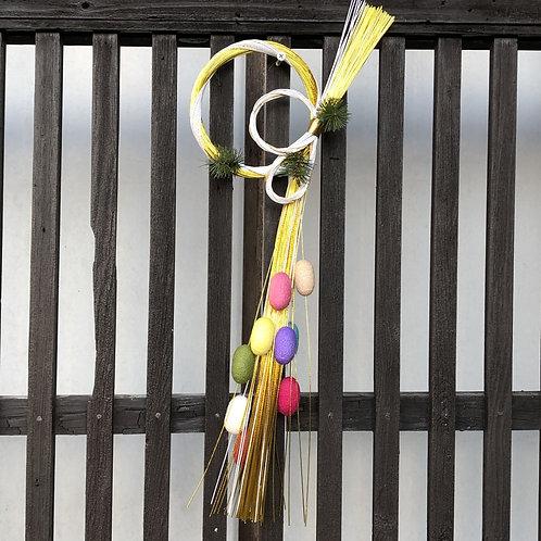 水引と繭玉のお正月飾り