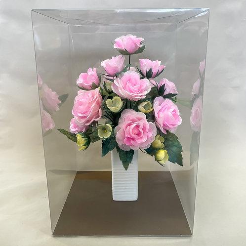 ピンクのバラいっぱいのアレンジメント