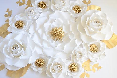 Large paper flower backdrop