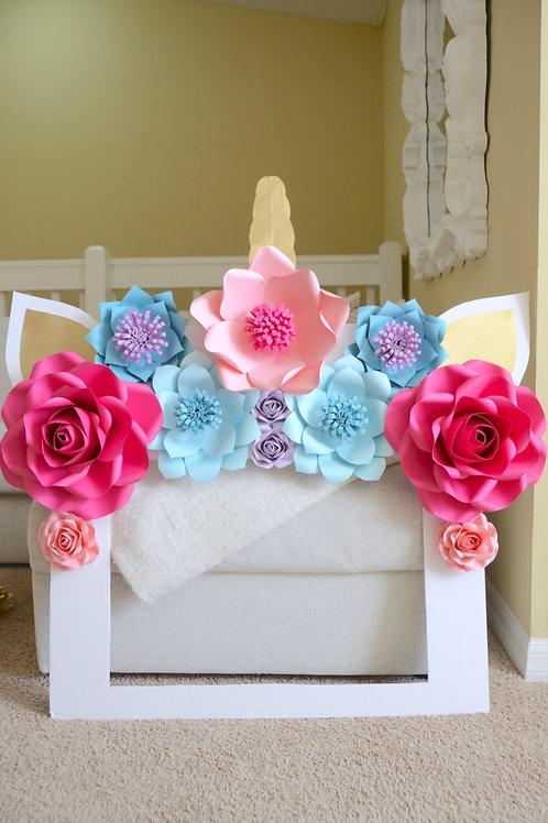 Floral frame prop