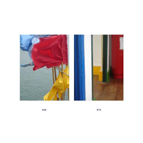 rouge, bleu et jaune