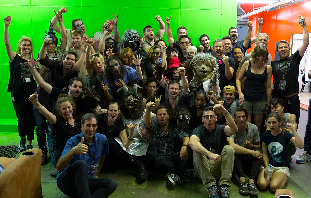All the hard working cast and crew of RoboKong