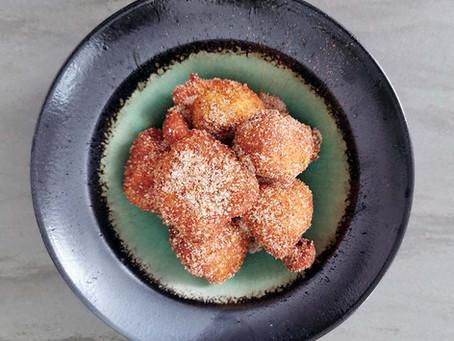 Goldene Luft: Ricotta-Bällchen mit Orange