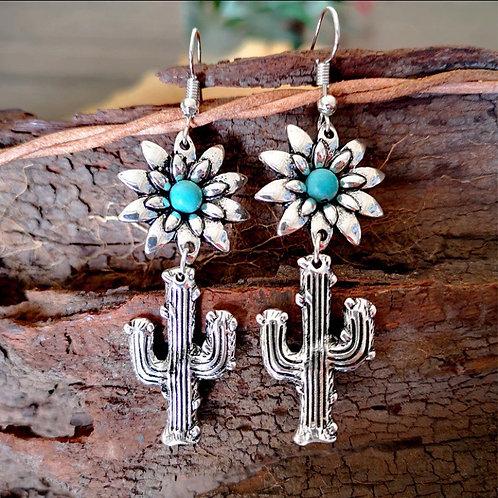 Flower Cactus Earrings