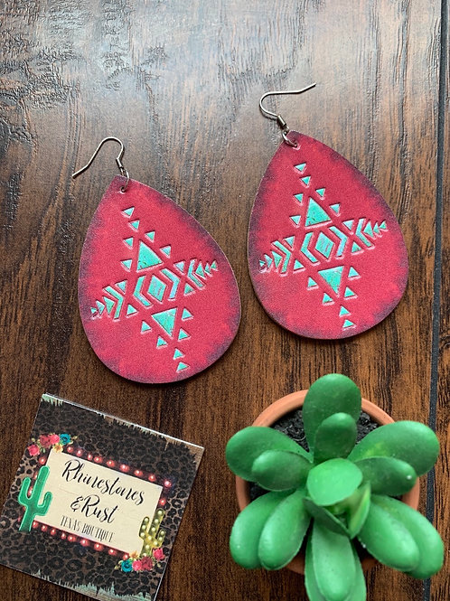 AztecLeather Earrings