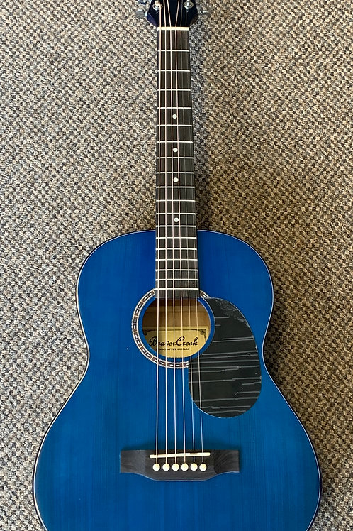 Beaver Creek BCTD601TB 3/4 Size Acoustic Guitar - Transparent Blue