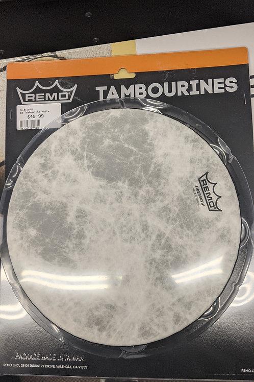 Remo Fiberskyn Tambourine - Quadura White, 10