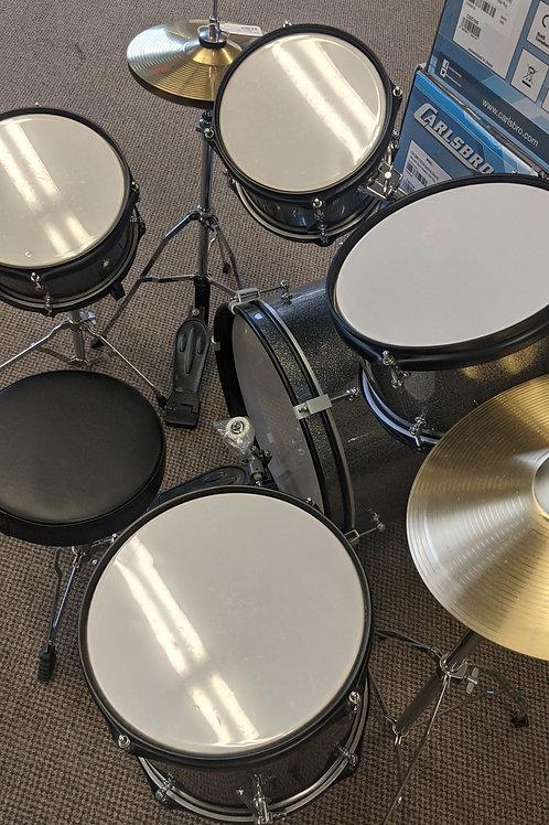 RB Drums RB-JR5-SGR 5 Piece Sparkle Gray W/Throne