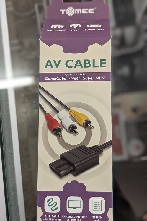 Tomee AV Cable for Gamecube N64 and SNES