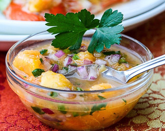 Ginger Peach Salsa