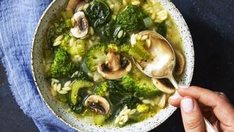 Supergreen Orzo Soup