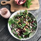 Mediterranean Salad with Sumac Tahini Dressing