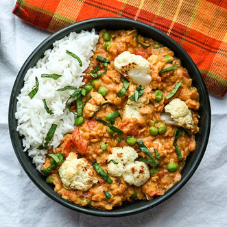 Roasted Cauliflower Red Lentil Curry