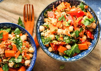 Sweet Potato Quinoa Chickpea Super Salad