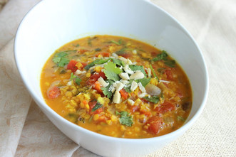 Meatless Lentil Masala Soup