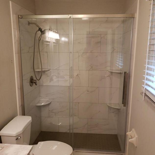 Framed Bypass Shower Door