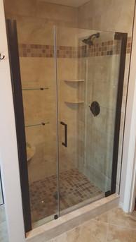 Tile Shower with Door