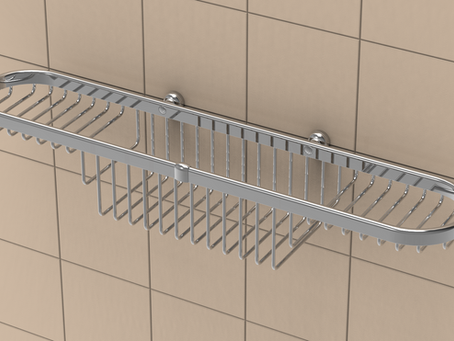 What is the best type of shelving for a tile shower installation?