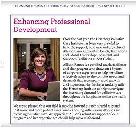 Allison Barnes Zest Global Mount Sinai Hospital Newsletter