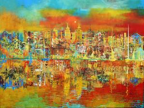 Abstract City Scene. Palma De Mallorca