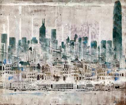 Time Travelled. The Hong Kong Skyline Through The Decades. Second Study.