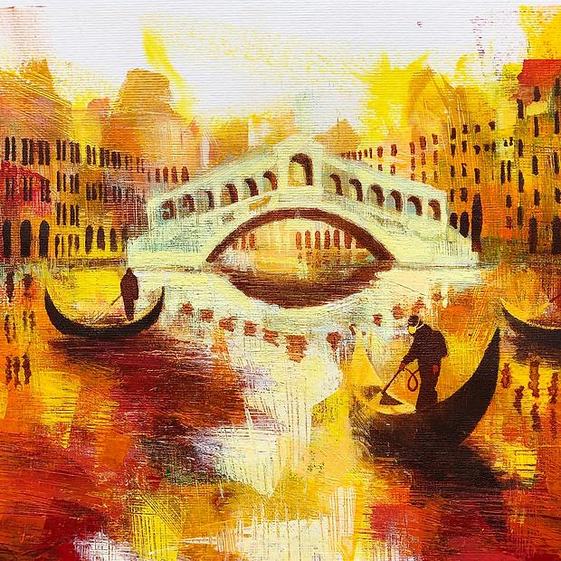 The New Reality, Rialto Bridge, Venice.