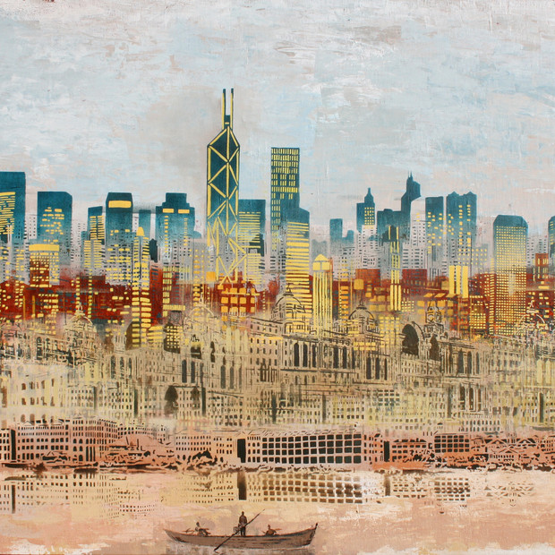 Time Travelled. The Hong Kong Skyline The Decades